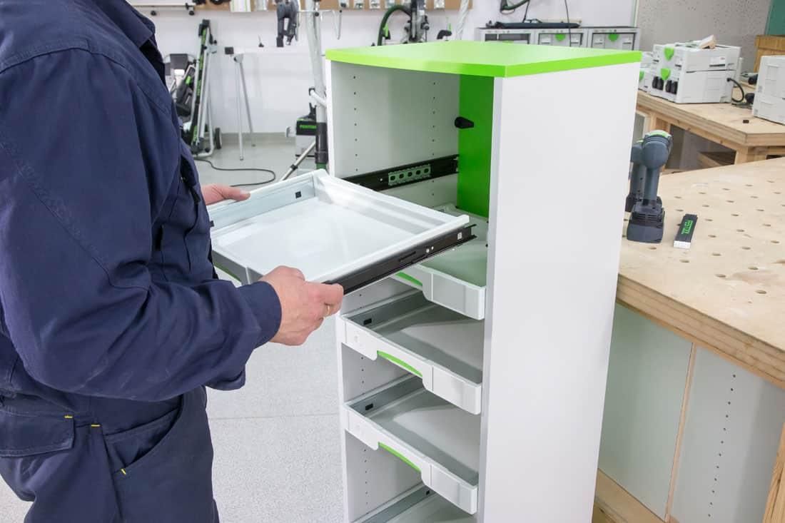 Fot. 42. Mocowanie szuflad Festool SYS-AZ