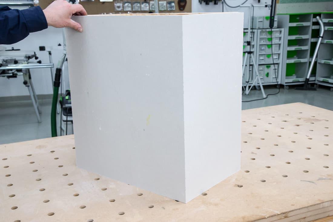 Fot. 14. Element drewniany okryty płytą g-k
