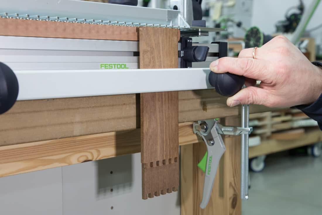 Fot. 8. Prawidłowe zamocowanie elementów po ich obróceniu do drugiego frezowania
